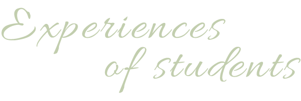 Experiences of students